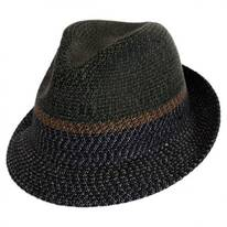 Ragon Toyo Braid Straw Trilby Fedora Hat