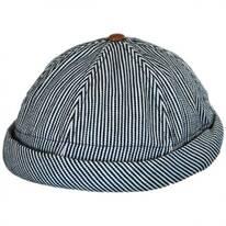 Pinstripe Cotton Skully Beanie Hat