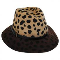 Leopard Wool Felt Safari Fedora Hat