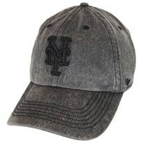 New York Mets MLB Caliper Clean Up Strapback Baseball Cap Dad Hat