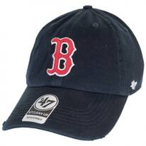 Boston Red Sox MLB Ridge Clean Up Strapback Baseball Cap Dad Hat