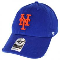 New York Mets MLB Ridge Clean Up Strapback Baseball Cap Dad Hat