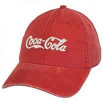 Coca-Cola Raglan LoPro Strapback Baseball Cap Dad Hat