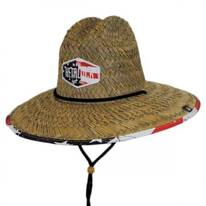 Americana Straw Lifeguard Hat