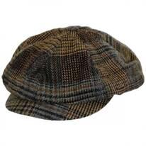 Patchwork English Tweed Wool Big Baker Boy Cap