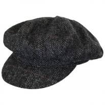 Oxford Herringbone English Tweed Wool Baker Boy Cap