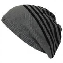 Striped Knit Cotton Beret