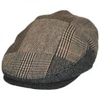 Herringbone Patchwork Wool Blend Ivy Cap