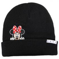 Minnie Peek Knit Cuff Beanie Hat
