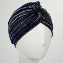 Metallic Stripe Turban