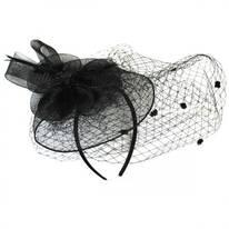Horsehair Mesh Flower Veil Fascinator Headband