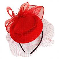 Netting Veil Felt Fascinator Headband