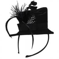 Wool Felt Mini Top Hat Fascinator Headband