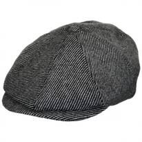 Brood Striped Wool Blend Newsboy Cap