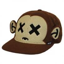 Monkey Furry Snapback Baseball Cap