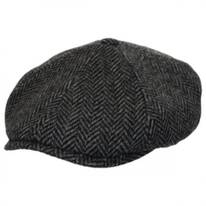 Herringbone Wool Newsboy Cap