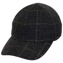 Windowpane Cashmere and Wool Fitted Baseball Cap