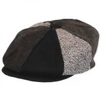 Kids' Tweed Patchwork Wool Blend Newsboy Cap