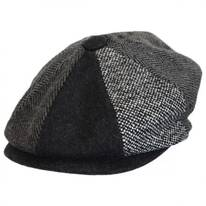 Kids' Tweed Patchwork Wool Blend Newsboy Cap