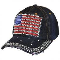 Studded Flag Strapback Baseball Cap