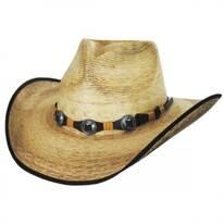 Kimball Palm Leaf Straw Western Hat