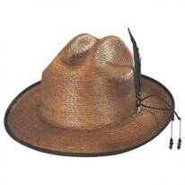 Bhumi Palm Leaf Straw Cattleman Fedora Hat