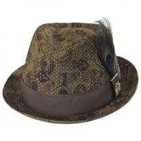 Mixed Media Toyo Straw Trilby Fedora Hat