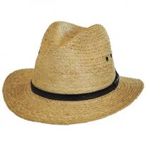 Raffia Straw Safari Fedora Hat