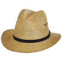 Raffia Straw Safari Fedora Hat