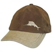 Perforated Suede Strapback Baseball Cap Dad Hat