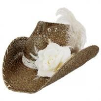 Ellie Mae Straw Western Hat