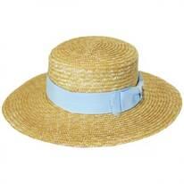 Hokkaido Wheat Straw Boater Hat