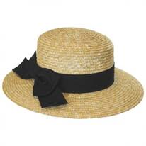 Bridgehampton Wheat Boater Hat