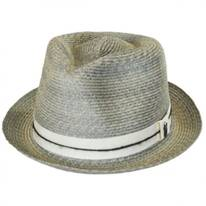 Ocean City Hemp Straw Fedora Hat