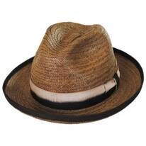 Coconut Grove Raffia Straw Fedora Hat
