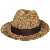 The Rye Raffia Straw Fedora Hat