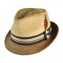 Trinidad II Raffia Straw Trilby Fedora Hat