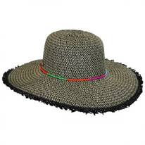 Frayed Brim Toyo Straw Floppy Hat