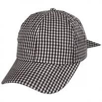 Gingham Adjustable Baseball Cap