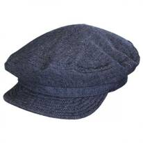 Unstructured Linen and Cotton Fiddler Cap