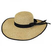 Beach Side Toyo Straw Floppy Hat