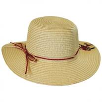 Kids' Cherry Blossom Toyo Straw Sun Hat
