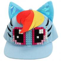 Rainbow Dash Bricky Blocks Snapback Baseball Cap