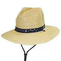 Bella Falls Toyo Straw Lifeguard Hat