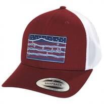 Starry Hills Mesh Trucker Snapback Baseball Cap