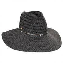 Rhinestone Band Toyo Straw Fedora Hat