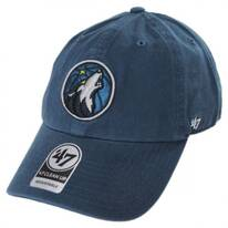Minnesota Timberwolves NBA Clean Up Strapback Baseball Cap Dad Hat