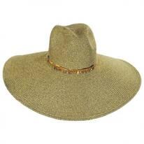 Luxe Toyo Straw Wide Brim Fedora Hat