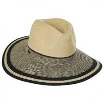 Porto Toyo Straw Wide Brim Fedora Hat