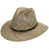 Digby Seagrass Straw Safari Fedora Hat